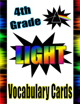 Energy Unit Vocabulary Cards (Sound, Light, Heat)