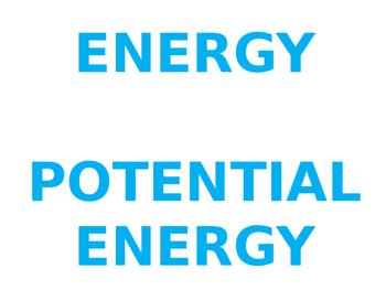 Energy Unit Word Wall