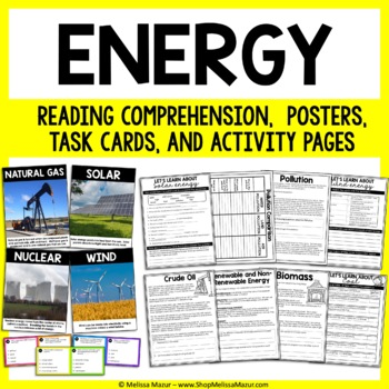 Energy Science Unit - Reading Passages and Activities!