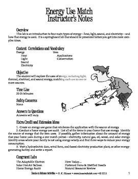 Energy Use Match (Ecology)