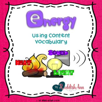 Energy: Using Content Vocabulary