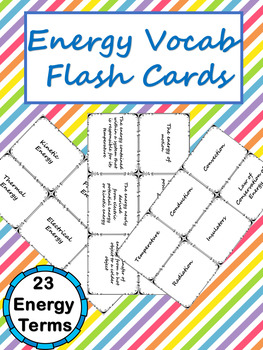 Energy Vocab Flashcards