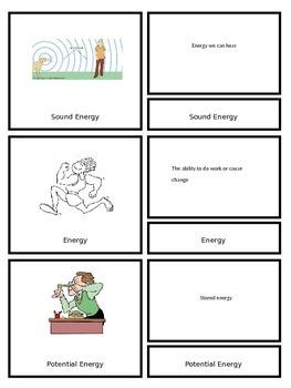 Energy Vocabulary