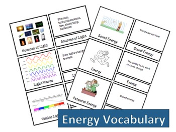 Energy Vocabulary Bundle