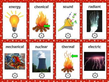 Energy Vocabulary Trading Cards