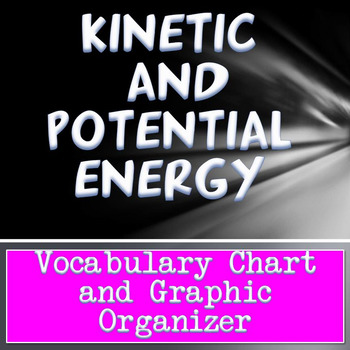 Energy Vocabulary Chart, Scaffolded Notes and Graphic Organizer