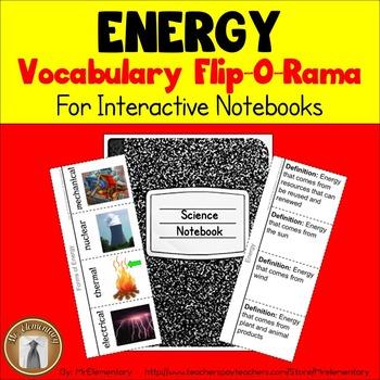 Energy Vocabulary Interactive Notebook