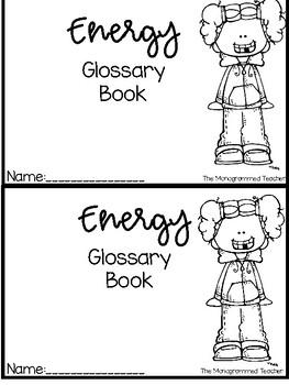 Energy Vocabulary Flipbook