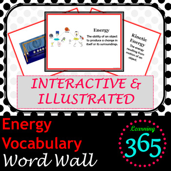 Energy Vocabulary Interactive Word Wall