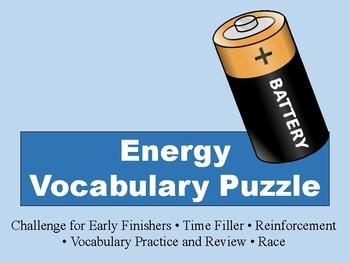 Energy Vocabulary Puzzle