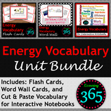 Energy Vocabulary Unit Bundle
