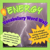 Energy Vocabulary Visual Word Wall