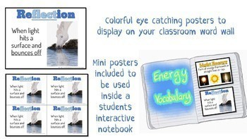 Energy - Vocabulary Word Wall
