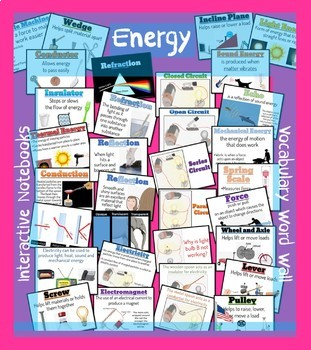Energy - Vocabulary Word Wall
