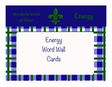 Energy Vocabulary Word Wall Cards