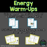 Energy Warm-Ups (Bell Ringers)
