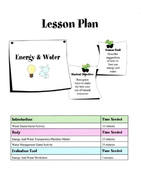 Energy & Water Use In Housing Lesson