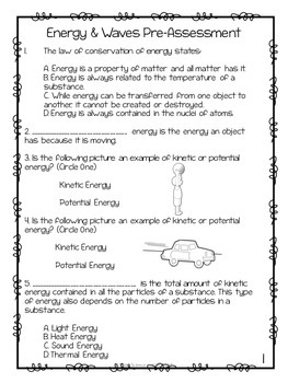 Energy and Waves Quiz