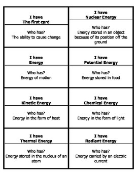 Energy Waves and Atoms Vocabulary Review
