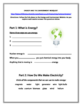 Energy Web Quest