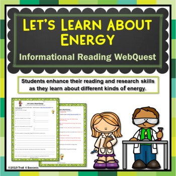 Energy Webquest Scavenger Hunt Activity Informational Reading Common Core