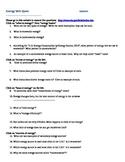 Energy Webquest worksheet