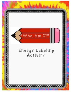 Energy Who Am I? Labeling Activity