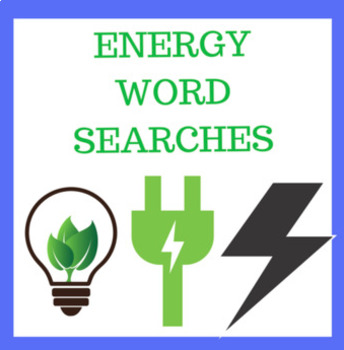 Energy Word Searches