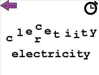Energy Word Vocabulary Game