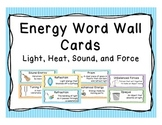 Energy Word Wall Vocabulary