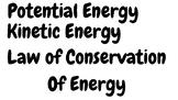 Energy Word Wall Words