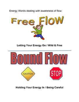Energy Words for Creative Movement and Dance