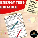 Energy Work and Simple Machines Test | Physical Science