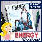 Energy Workbook   Kinetic, Gravitational, Elastic, Thermal Energy Physics Notes