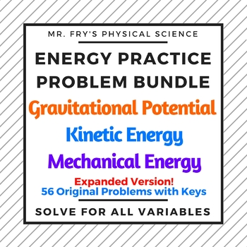 Energy Practice Problem Bundle  HS-PS3-1 & HS-PS3-2