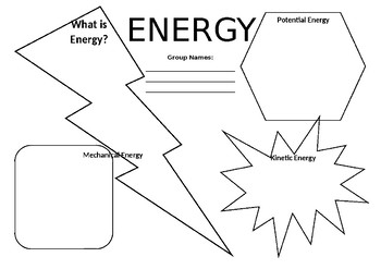 Energy Worksheet (Types of Energy)