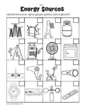 Energy Worksheets and Printables