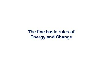Energy and Change - Five Important Rules (Study Aid / Handout)