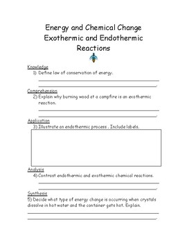 Exothermic and Endothermic Reactions-Energy and Chemical Change