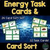 Energy Task Cards and Card Sort Bundle