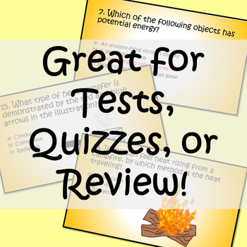 Energy and Heat Brain Check! PAPERLESS Test, Quiz, Review