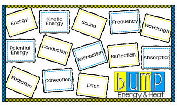 Energy and Heat Vocabulary Game and Quiz