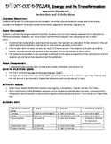 Energy and Its Transformation Game Puzzle with Worksheet