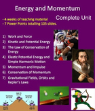 Energy and Momentum Unit - Complete Lessons, Lab, Quiz and 2 Tests