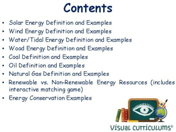 Energy & Resources Lesson - study guide, state exam prep, 2017, 2018 update