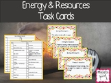 Energy and Resources Task Cards