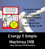 Energy and Simple Machines Interactive Science Notebook -