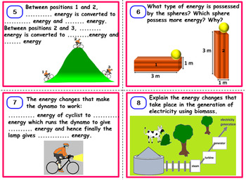 Energy and Sources - Task Cards