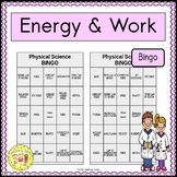 Energy and Work BINGO