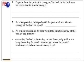 Energy and its Transformations (including kinetic and potential energy)